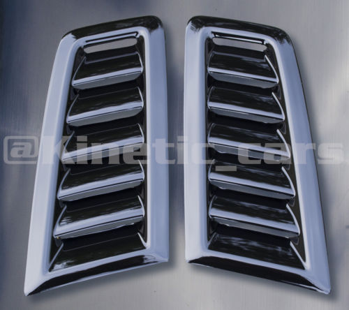 RS Focus MK2 bonnet vents Gloss Black finish